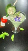 Verrine de laitue et concombre